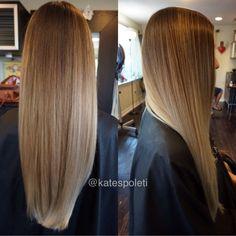 Straight sombre, icy blonde, blonde ombré