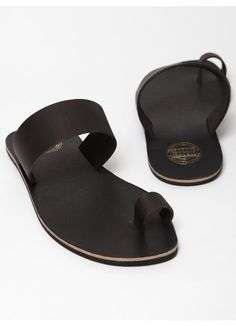 Acne Men's Leather Agra Sandals