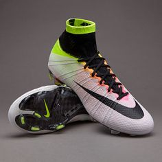 Nike Mercurial Superfly FG - White/Black/Volt/Total Orange