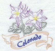 Colorado - Columbine (Redwork)