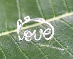 Items similar to Wire Love Ring - Adjustable Fits Most Size - Fine Silver Plated Copper Wire on Etsy Cute Rings, Diy Rings, Unique Rings, All I Ever Wanted, Dainty Ring, Gold Wire, Love Ring, Hipsters, Love Words