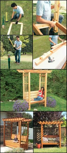 Create a Cozy Seating Spot in Your Yard By Building Your Own Arbor Bench