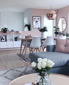 Pink design & Pink living room & Interior design & Pink and white Living Room Colors, Living Room Grey, Home Living Room, Interior Design Living Room, Living Room Designs, Apartment Living, Living Area, Living Room Goals, Interior Decorating