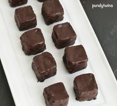 Bite-size pumpkin fudge chocolate protein treats. Could also omit dipping in chocolate.