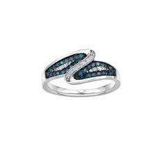 Dinner ring featuring Enhance Blue Diamonds