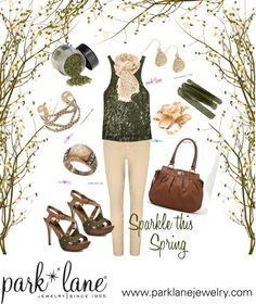"""""""Sparkle this Spring"""" by parklanejewelry on Polyvore"""