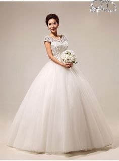New Arrival 2014 Women Ladies Elegant Lace Vintage Embroidery White Wedding Dresses Plus Size $84.99 - 89.99