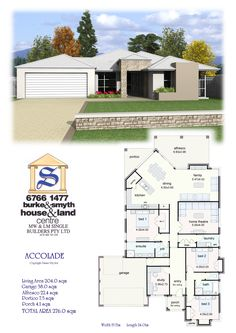 Single Builders Accolade House Plan