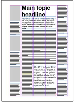 Magazine columns and their layout options | Magazine Designing