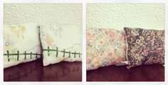 Mountain cushions £6.00 each in my stall with chintzy print florals