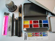 My favorite little sketch kit, fits nicely in my purse.