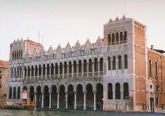 Facciata sul Canal Grande del Fontego dei Turchi, sede del Museo di Storia Naturale  Palazzo Ducale - Venice, Italy