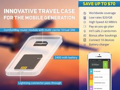Travel Case for iPhone + All-Day Mobile Internet by ComfortWay, Inc. — Kickstarter
