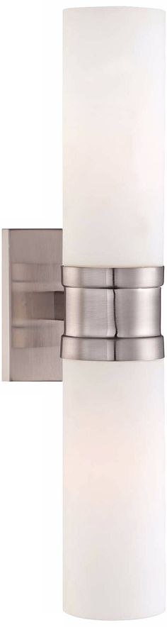 """Tube Brushed Nickel 18 1/2"""" High Minka Wall Sconce - #W6838   Lamps Plus"""