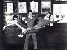 Stephen Colbert, Paul Dinello, Amy Sedaris at tumbling at The Second City.