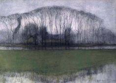 Piet Mondrian, Geinrust Farm in Watery Landscape, 1905.