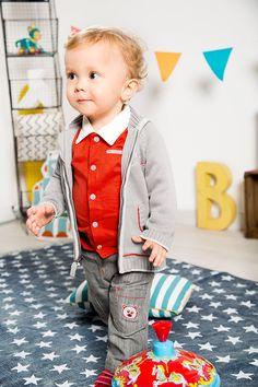 En rouge et gris Bébé sera à croquer ! - Collection Mes Tout Doux - www.shop-orchestra.com