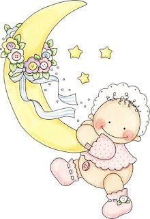 Imagen bebes en la luna-Imagenes y dibujos para imprimir