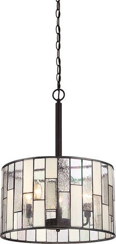 "Ronan 5-Light 23"" Antique Bronze Pendant at Menards, for our family room/dining room"