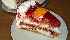 Δροσερή λευκή τουρτίτσα με φρούτα! Cheesecake, Food And Drink, Sweets, Cakes, Baking, Desserts, Recipes, Pie, Recipe