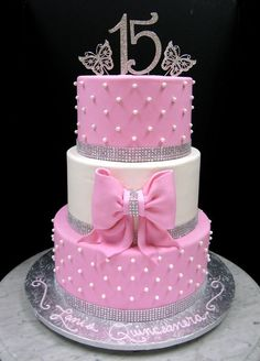 21 Beautiful Pink Birthday Cakes for Ladies | Dear Home Maker 16th Birthday Cake For Girls, 15th Birthday Cakes, Sweet 16 Birthday Cake, Beautiful Birthday Cakes, Beautiful Wedding Cakes, Beautiful Cakes, Amazing Cakes, Quince Cakes, Quinceanera Cakes