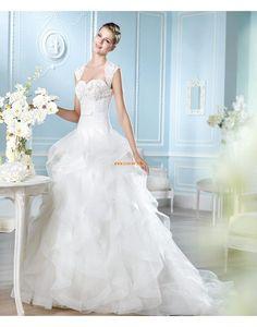 Glitre & Skinne Klassisk & Tidløs Blonde Designer Bryllupskjoler