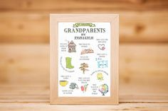 Button Family Picture, Family Picture Frames, Picture Shelves, Grandparents Christmas Gifts, New Grandparents, Grandparent Gifts, Grandmother Gifts, Grandpa Gifts, First Home Gifts