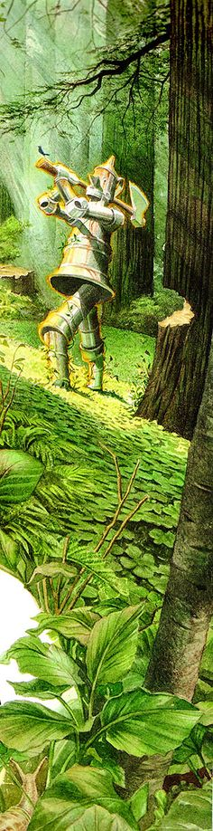 Love the composition of this illustration. What a super long very dynamic layout.  Wizard of Oz, Charles Santore
