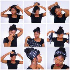 idée coiffure foulard cheveux crépus / afro