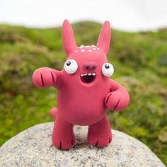 Maulkie the Beastlie by Beastlies on Etsy Biscuit, Clay Monsters, Monster Art, Fimo Clay, Clay Charms, Clay Projects, Clay Art, Pikachu, Geek Stuff