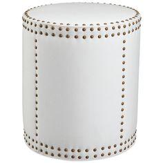 Wesley Drum Ottoman. #laylagrayce #furnishings