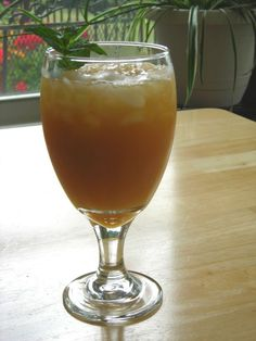 French Mint Tea (You'll need:  Sugar, Lemon Juice, Frozen Orange Juice Concentrate, Fresh(or dried) Mint, & Tea Bags) from SouthernPlate