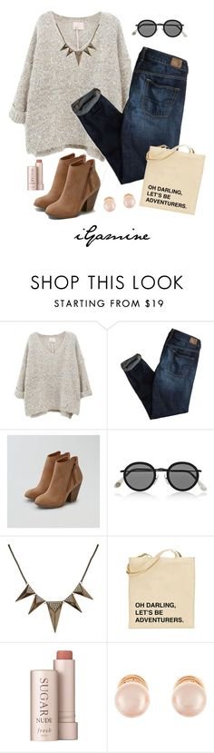 """Let's Be Adventurers"" by igamine ❤ liked on Polyvore featuring American Eagle Outfitters, Acne Studios, Jules Smith, Fresh and Kenneth Jay Lane"