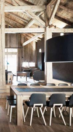 = black + wood + oversized Pendant