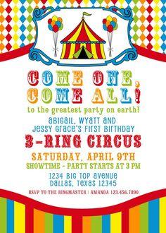 circus invite wording   kids' parties   Pinterest   Circus party ...
