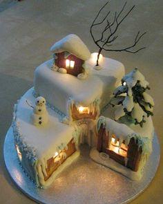 imponente cake de Navidad la casita de jengibre Imponente cake de Navidad: ¡la casita de jengibre!