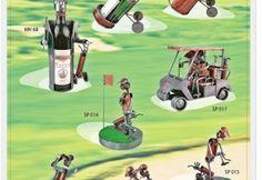 Figurki statuetki przedstawiające Golfistów grających na polu golfowym
