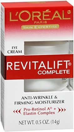 Product review for L'Oreal Skin Expertise RevitaLift Complete Eye Anti-Wrinkle & Firming Cream 0.50 oz (Pack of 10)  - For the most up to date information, we recommend you visit the manufacturer website for the best product details, including ingredients, hazards, directions and warnings. This product offering is for 10 Retail Package