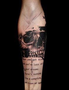 old stuff 2 + realistic trash polka+   Tattoo by Volko Merschky/  Buena Vista tattoo Club / Würzburg / Germany