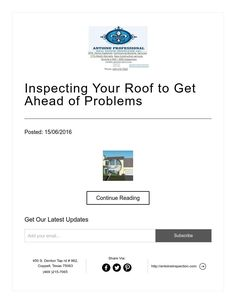 Inspecting Your Roof to Get Ahead of Problems