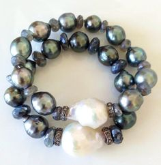 Beautiful baroque pearl bracelet - amzn.to/2goDS3g - jewelry womens necklace ring - http://amzn.to/2hR83wC