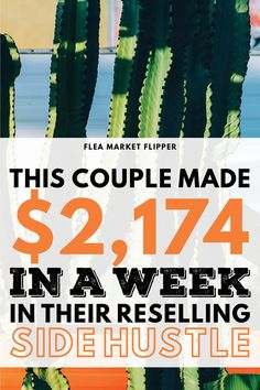 This Couple Made $2,174 In a Week In Their Reselling Side Hustle | Earn Extra Cash Flipping Items | Click to learn what this couple flipped and sold to earn extra cash and income in their work from home flipping business. You can create your own business flipping unwanted items for money. | side hustle | work from home | flipping #flipping #sidehustle #workfromhome #fleamarket #thrifting