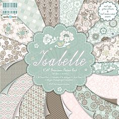 First Edition 'Isabelle' 8-inch Scrapbook Premium Paper Pad - Overstock™ Shopping - Big Discounts on Paper Packs