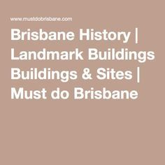 Brisbane's oldest building has many facets to its sometimes dark and brutal history - built by convicts in the late it is not just the longest surviving convict building but also the oldest windmill in existence in Australia. Old Windmills, Old Building, Brisbane, Buildings, History, Historia