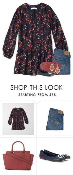 """""""Whatever you do, never run back to what broke you."""" by your-daily-prep ❤ liked on Polyvore featuring Abercrombie & Fitch, MICHAEL Michael Kors, Tory Burch and Kendra Scott"""