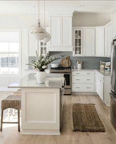 Color scheme, appliances and hardware not lights Kitchen Dinning, Kitchen Redo, New Kitchen, Kitchen Remodel, Kitchen Design, Kitchen Ideas, Dining, Beautiful Kitchens, Kitchen Interior