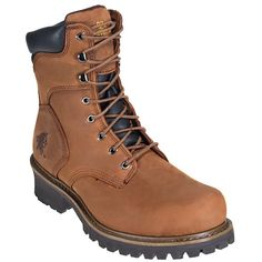Chippewa Boots Men's Steel Toe 55026 EH 8 Inch Logger Work Boots