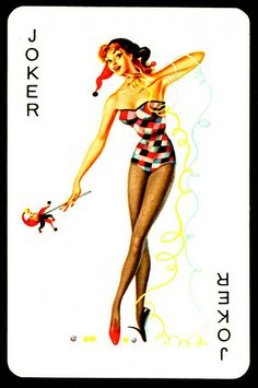 """Biba"" Pin-up Playing Card ~ Joker"