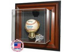 First Home Run Baseball Gold Glove Wall Mountable Case