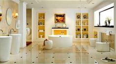 décorer salle de bain mur carrelage blanc noir étagères lavabo miroir mur cadre